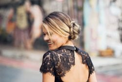 Side Bun Hairstyles with a Fishtail Braid: Tutorial