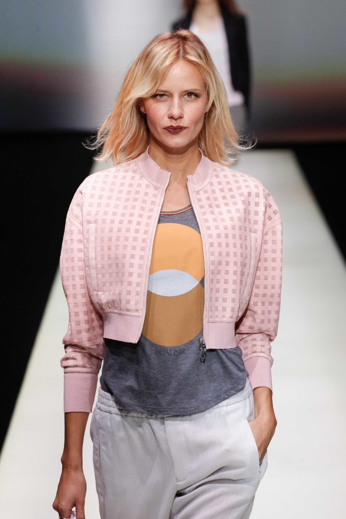 pink ombré hair blonde lob