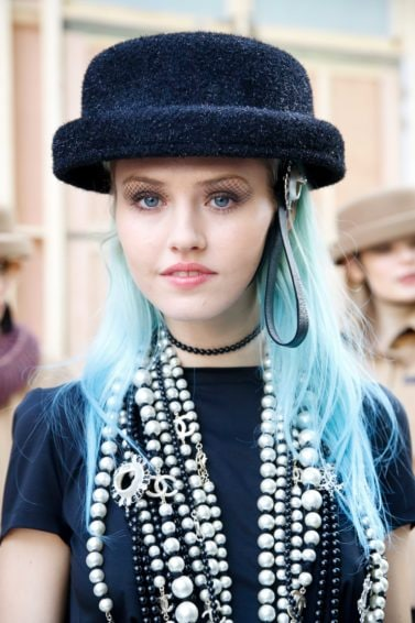 red and blue hairstyles powder blue long