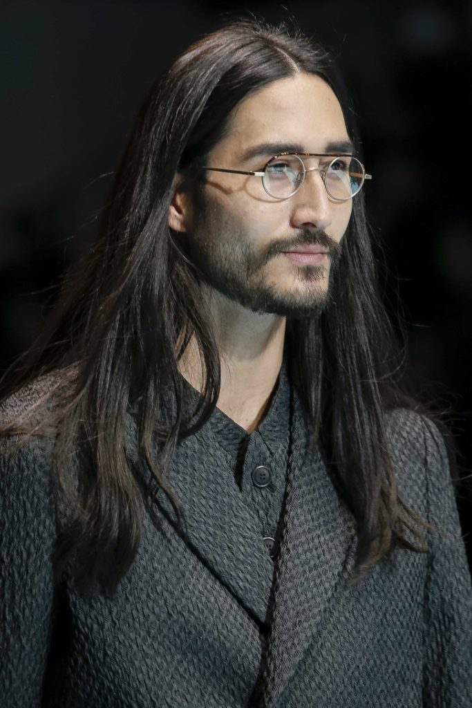 hairstyles for guys with long hair long straight hair