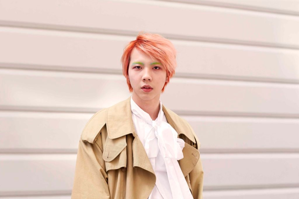 Asian men's hairstyles with color
