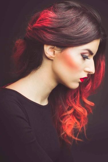 summer hair color ideas red ombre