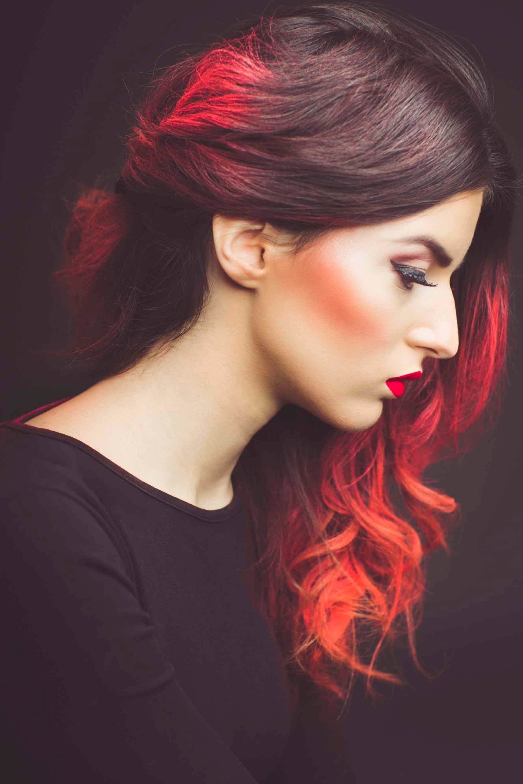 fall ombre hair red