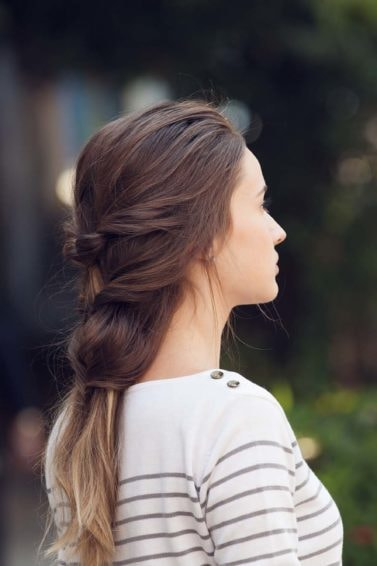 French braid updo inspired updo finished look