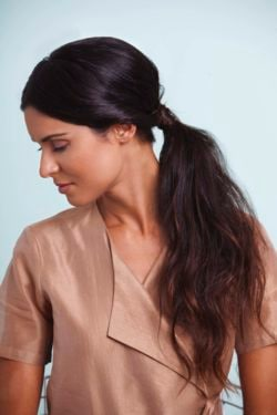 twisted easy ponytail side view