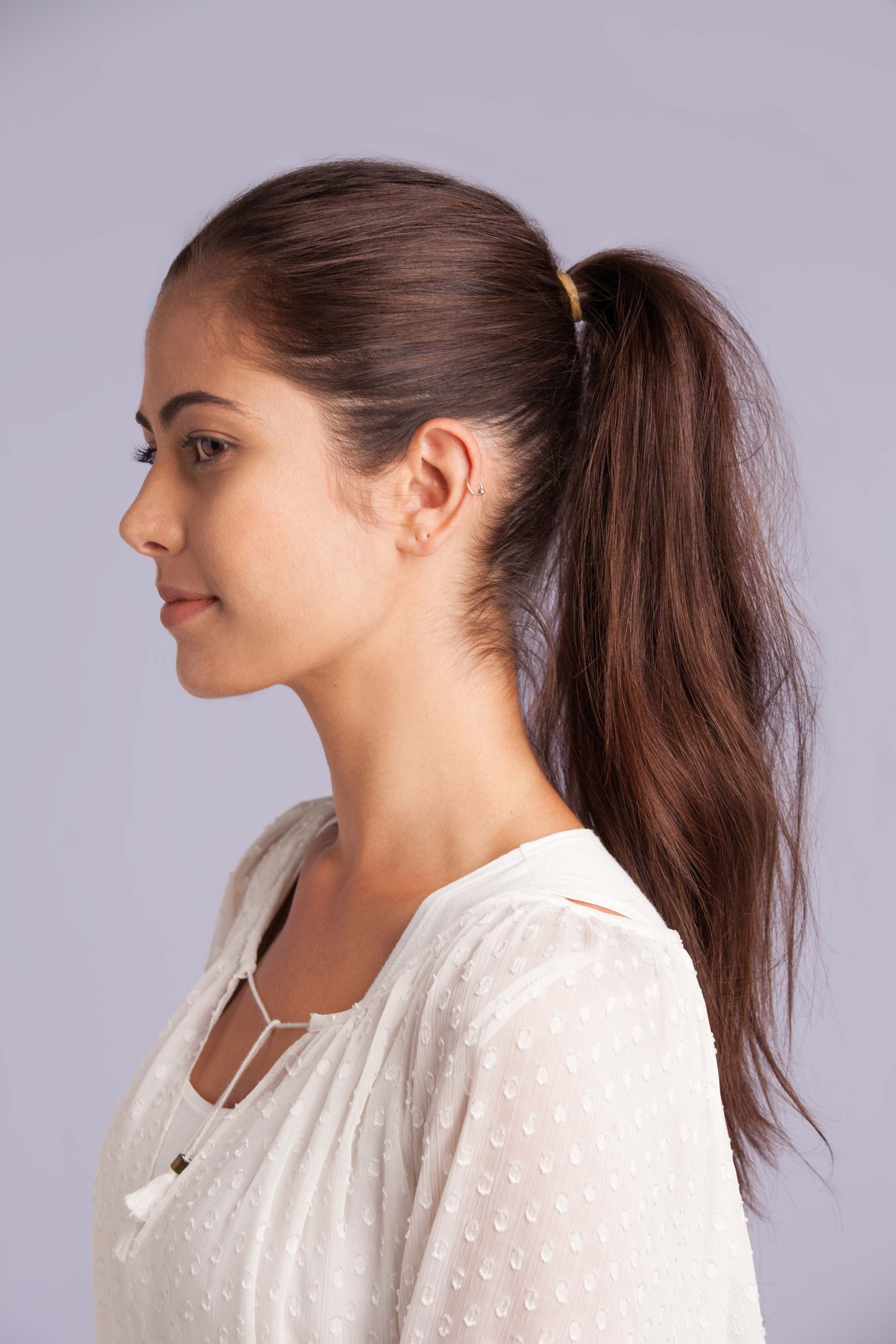 evening hairstyles high pony