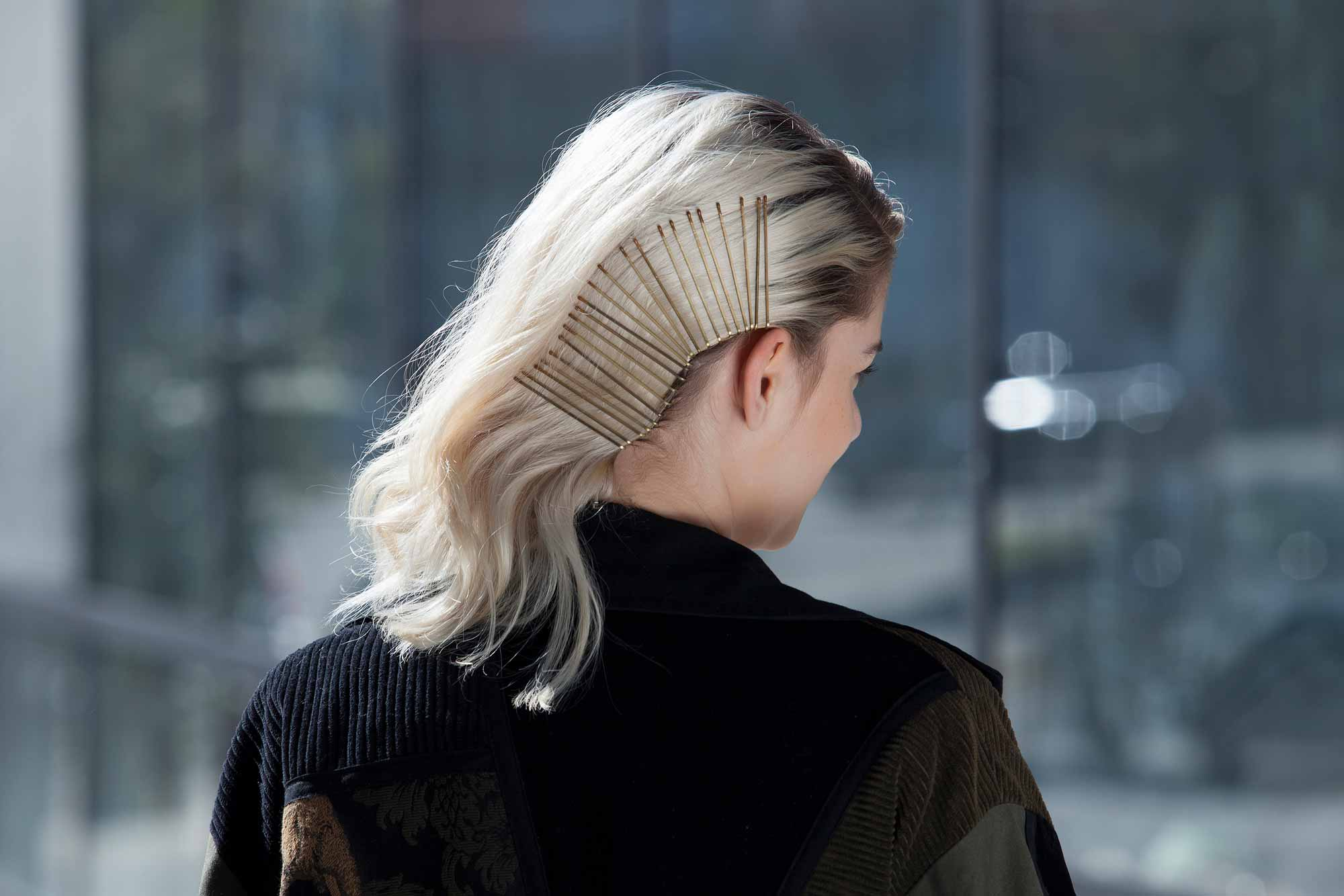 bobby pin faux side shave