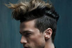 wavy quiff hairstyle for the holidays