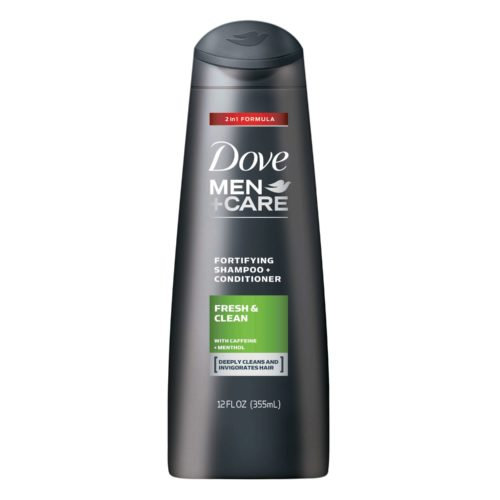 DOVE MEN+CARE FRESH & CLEAN FORTIFYING 2 IN 1 SHAMPOO + CONDITIONER