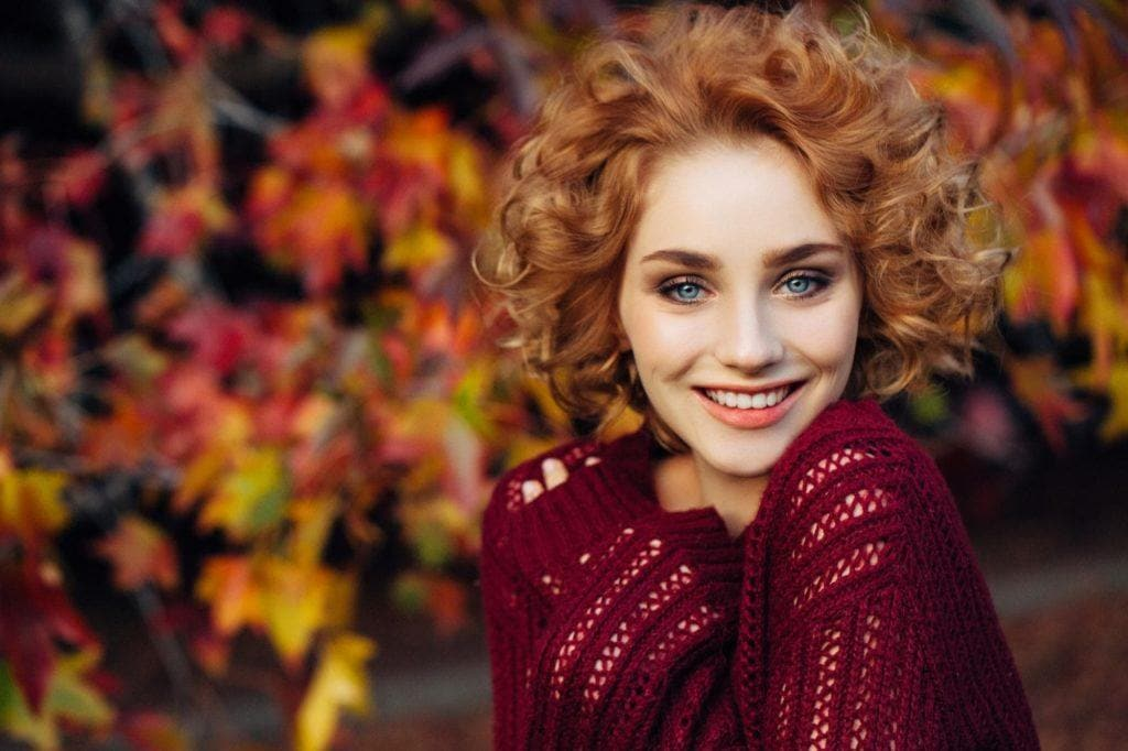 face types: heart face soft curls