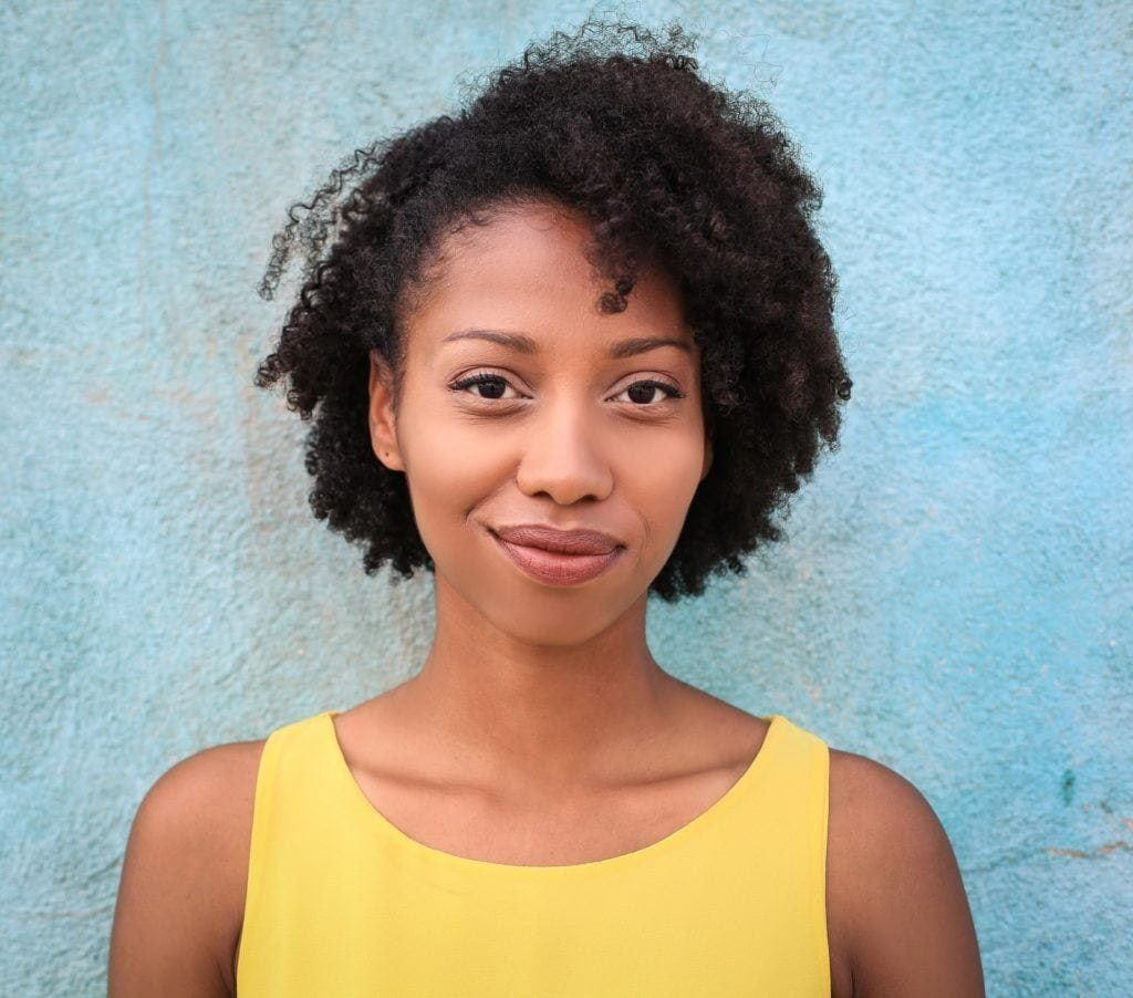 face types: curly natural hair on round face type