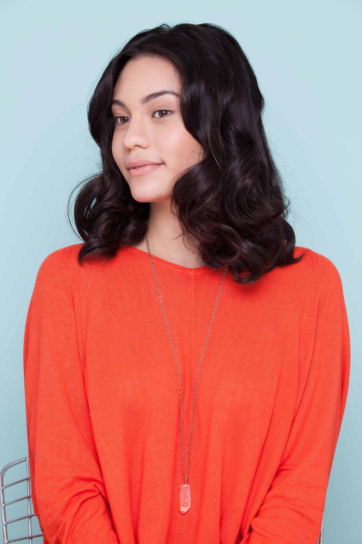 curl medium-length hair