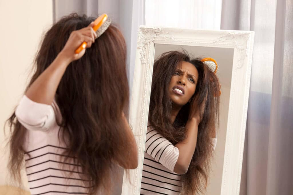 frizzy natural hair care