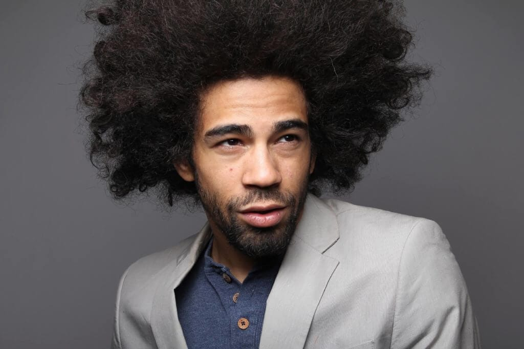hairstyles for long hair men afro