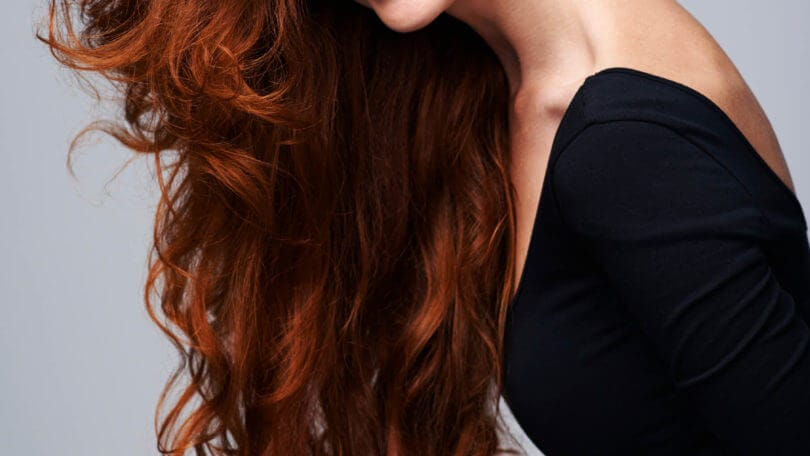 red highlights long red hair