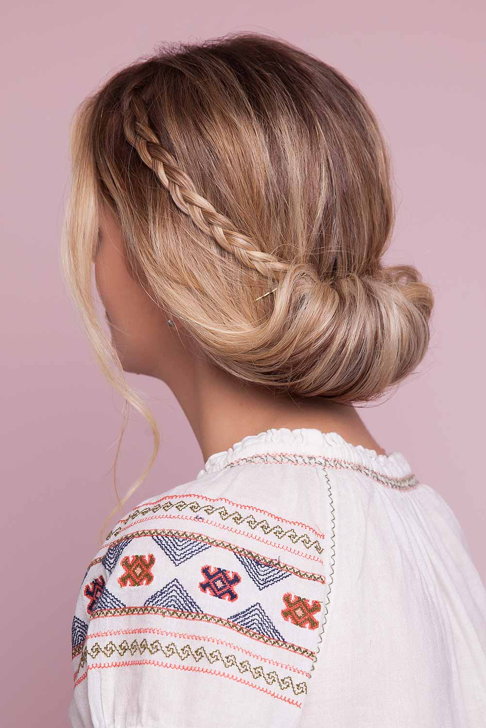 party hairstyles we love: braided chignon