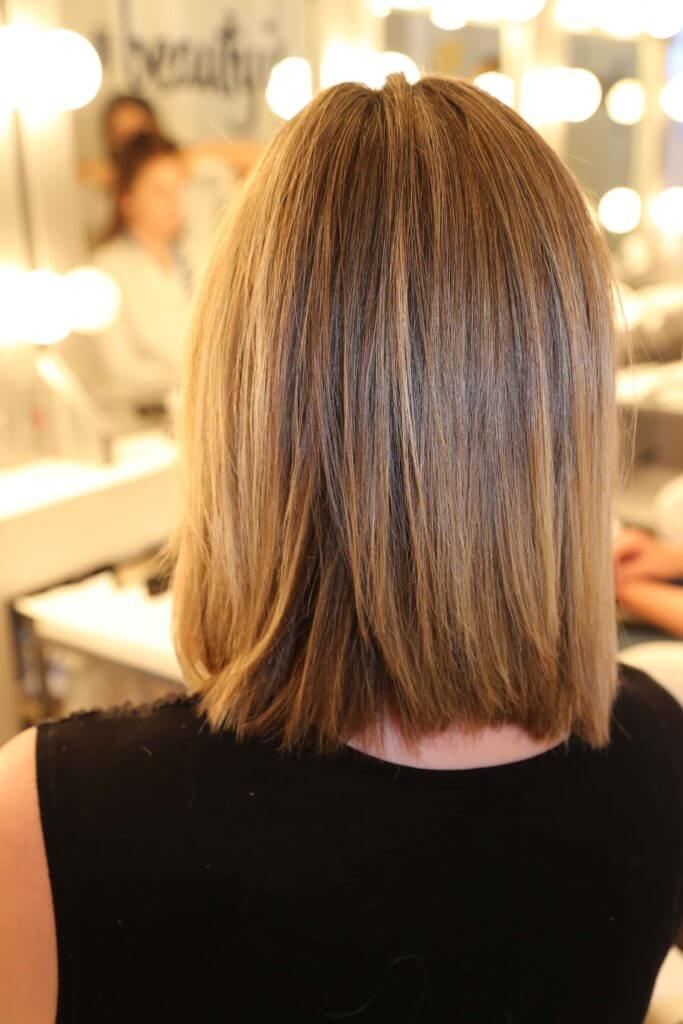 how to straight hair short blonde bob