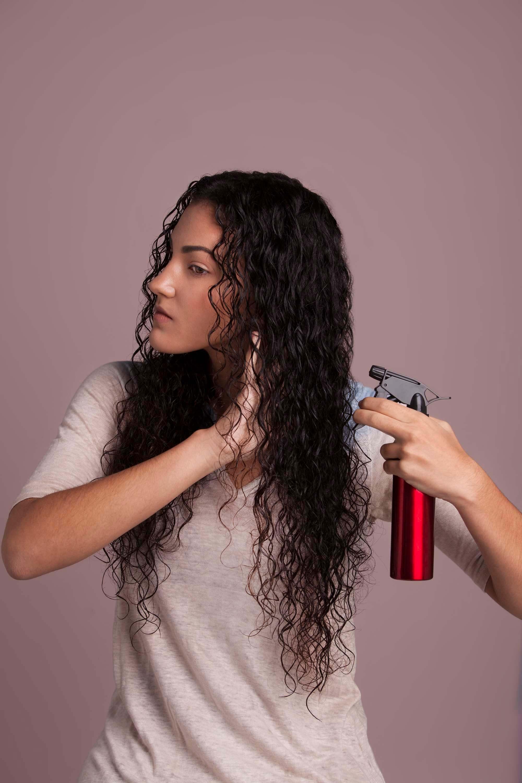 hair plopping apply water