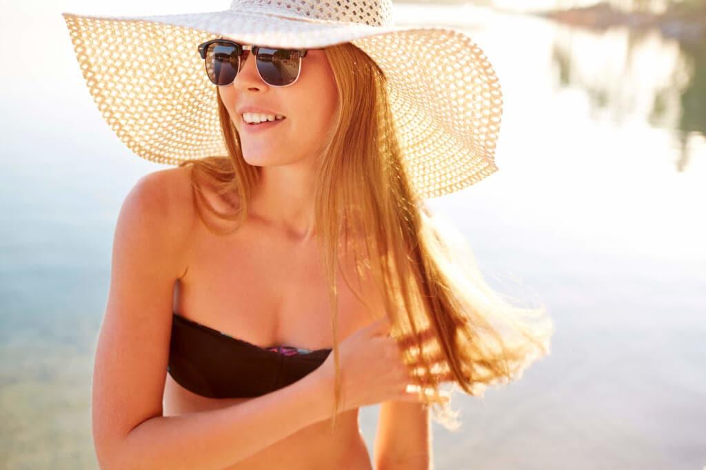 beach hair summer hat