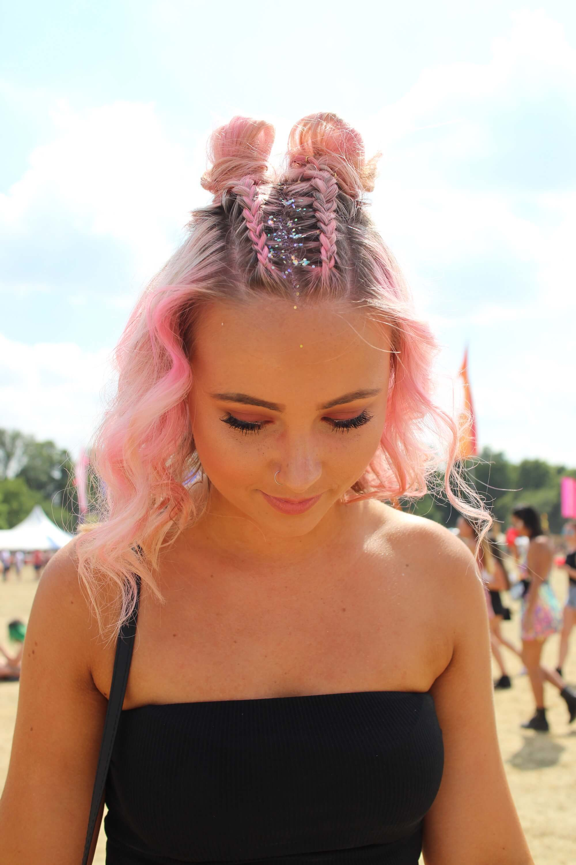 pink ombre hair bright pink