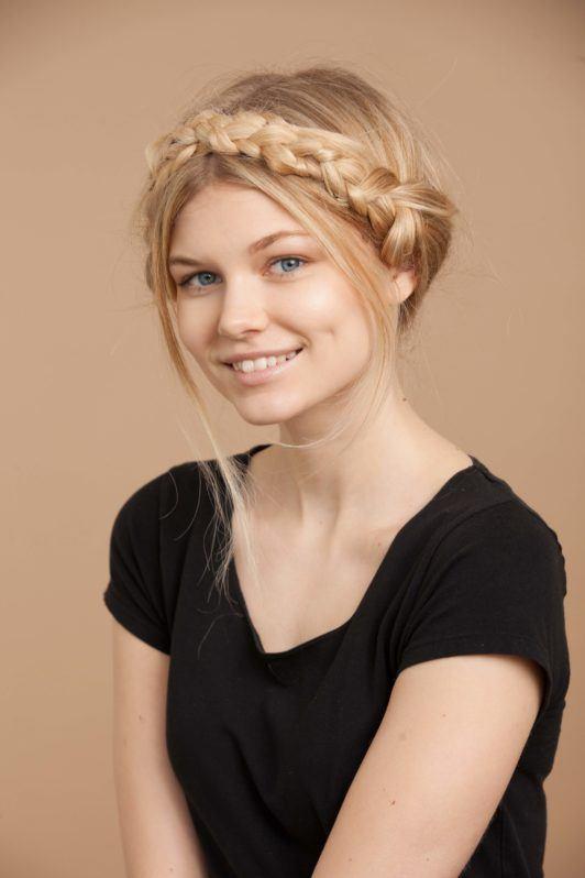you've created milkmaid braids