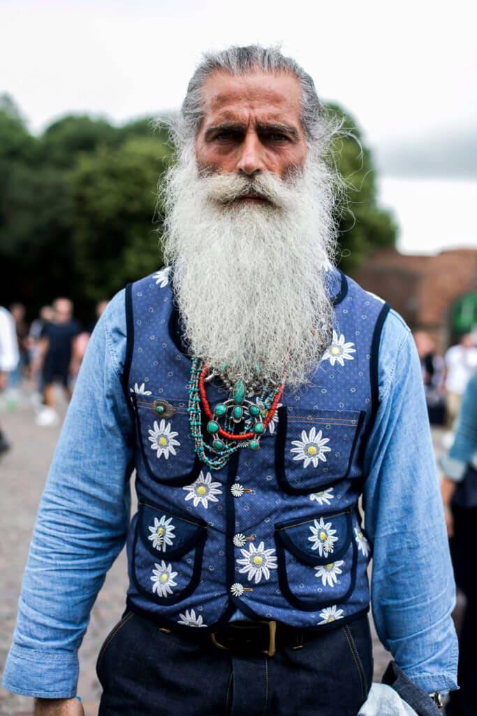 hairstyles for long hair men beard
