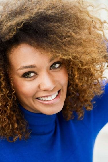 balayage hair afro