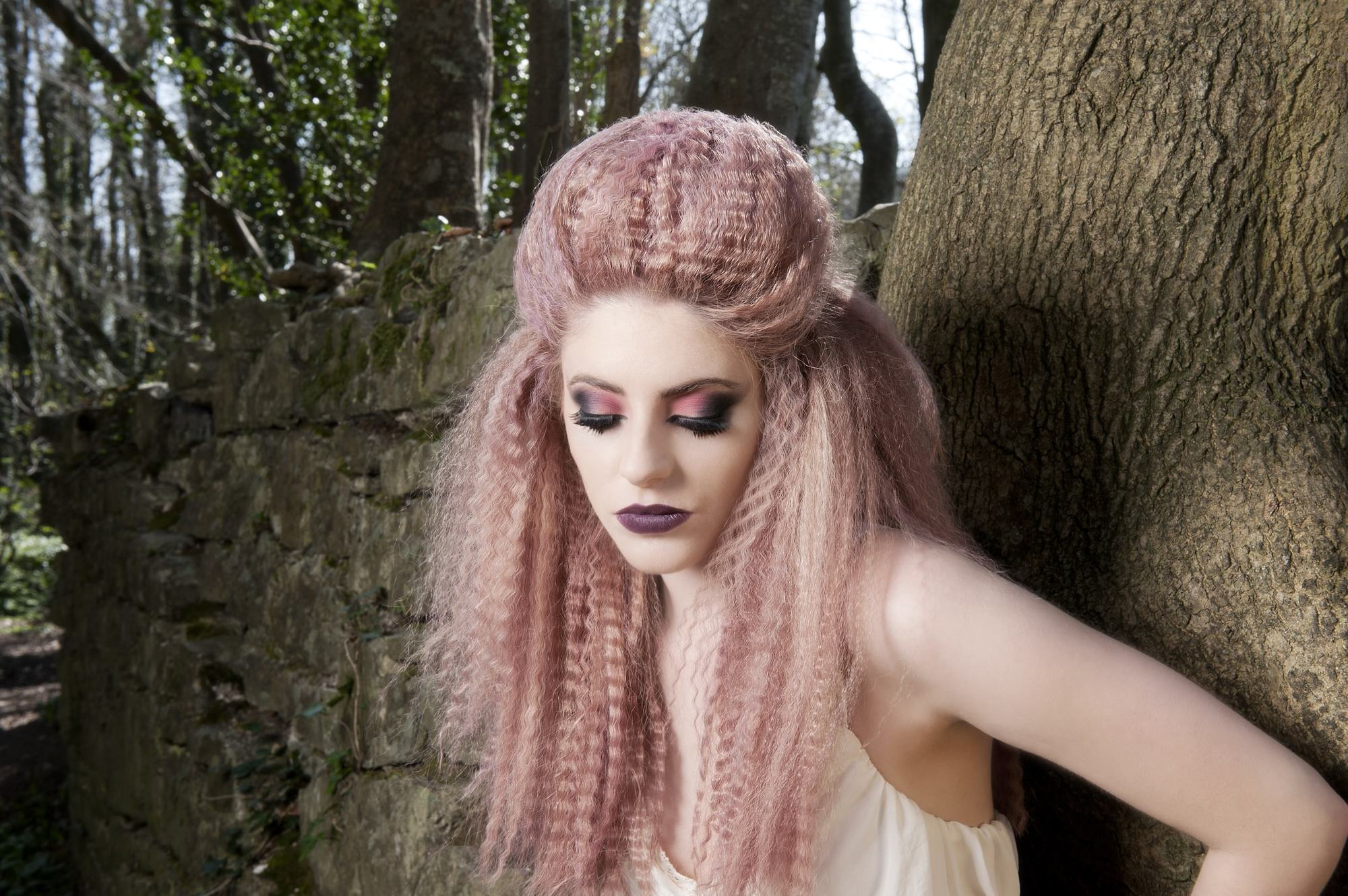 crimping hair styles crimped hair with braids how to create this hairstyle in 6669