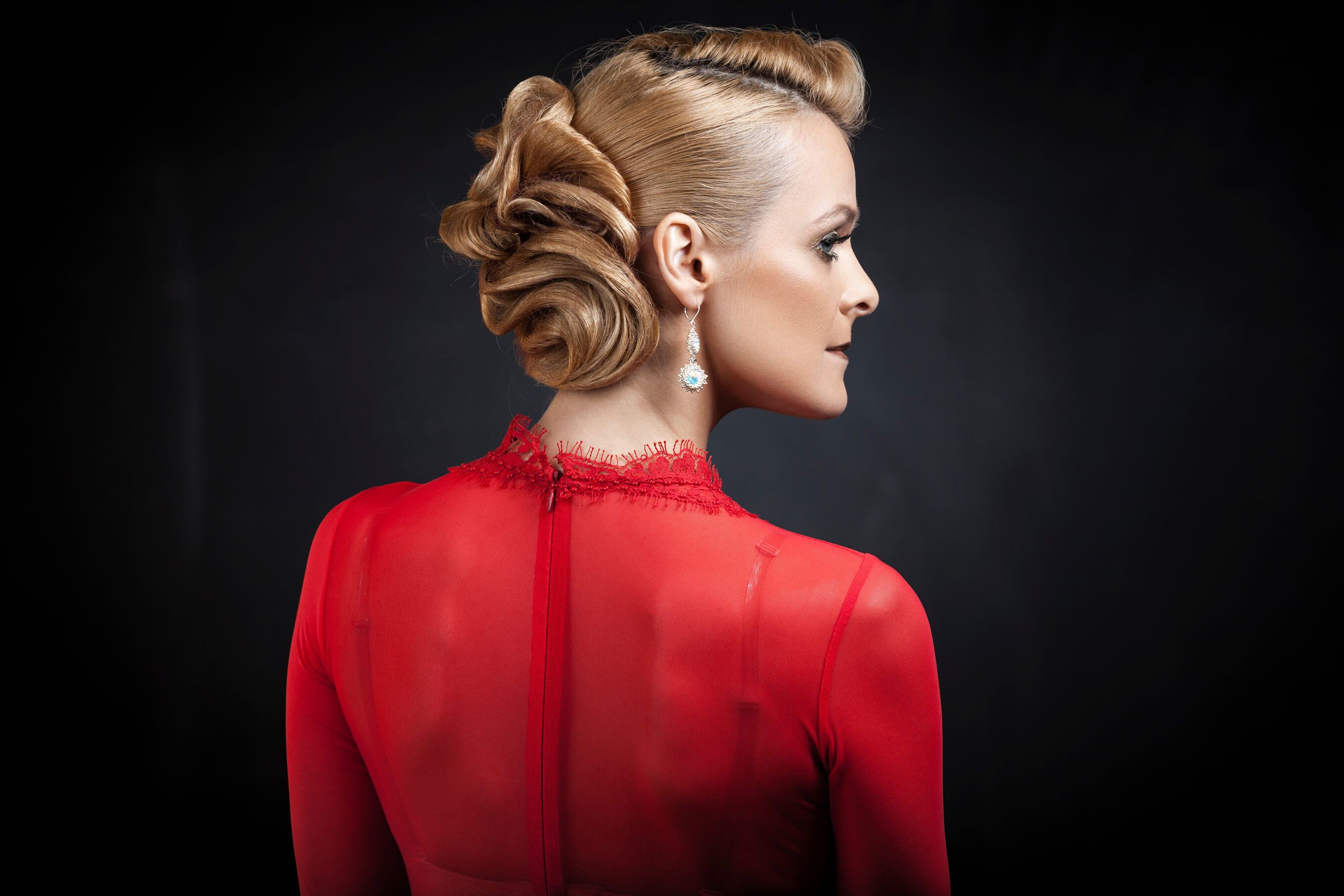 Holiday Hairstyles for Women Over 50 twisted bun