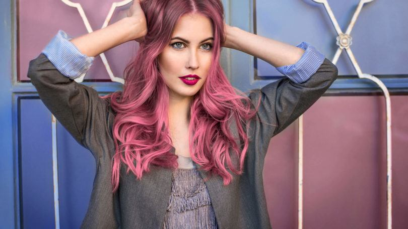 pink hairstyles for breast cancer awareness spray on