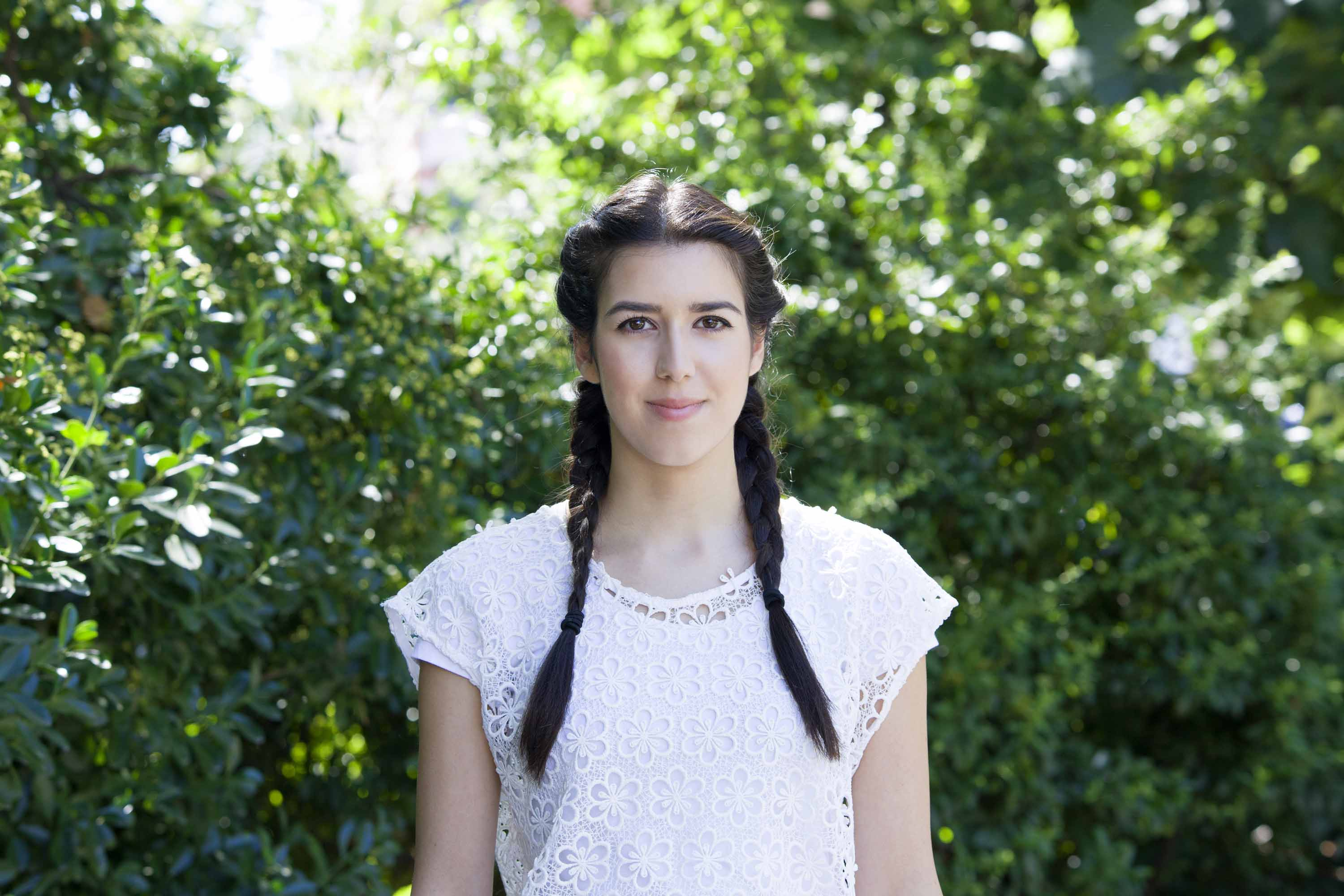 hairstyle ideas for apple picking: pigtail braids
