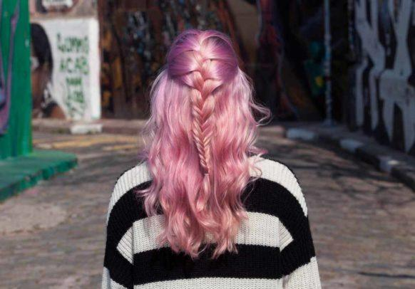 french fishtail braid final inspo shot pink hair