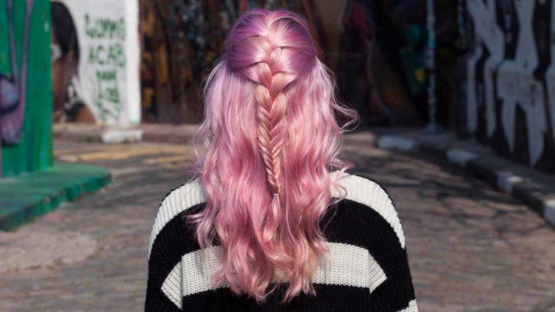 fishtail french braid final inspo shot pink hair