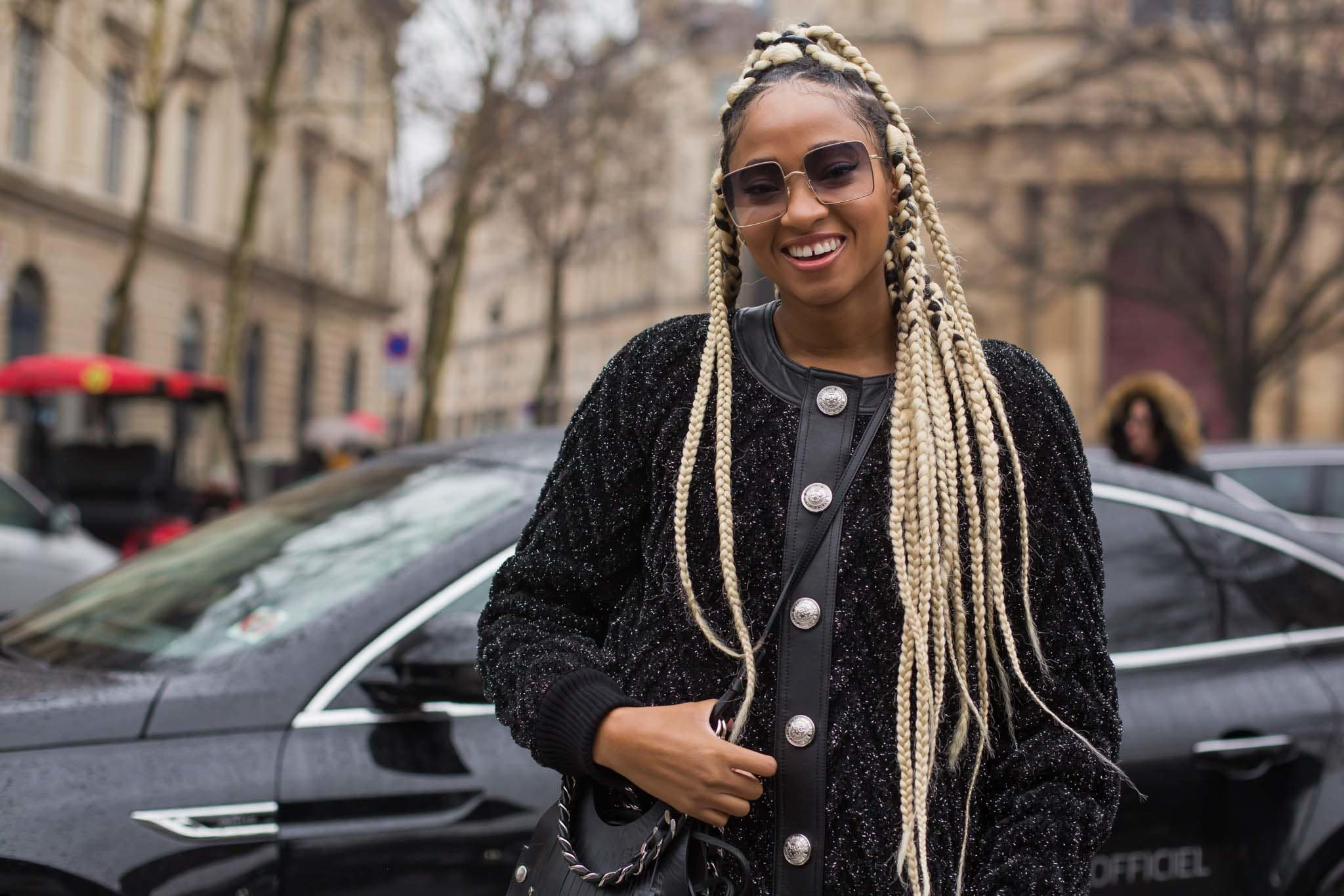 jumbo box braids: blonde