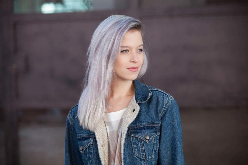 bluish lilac purple hair