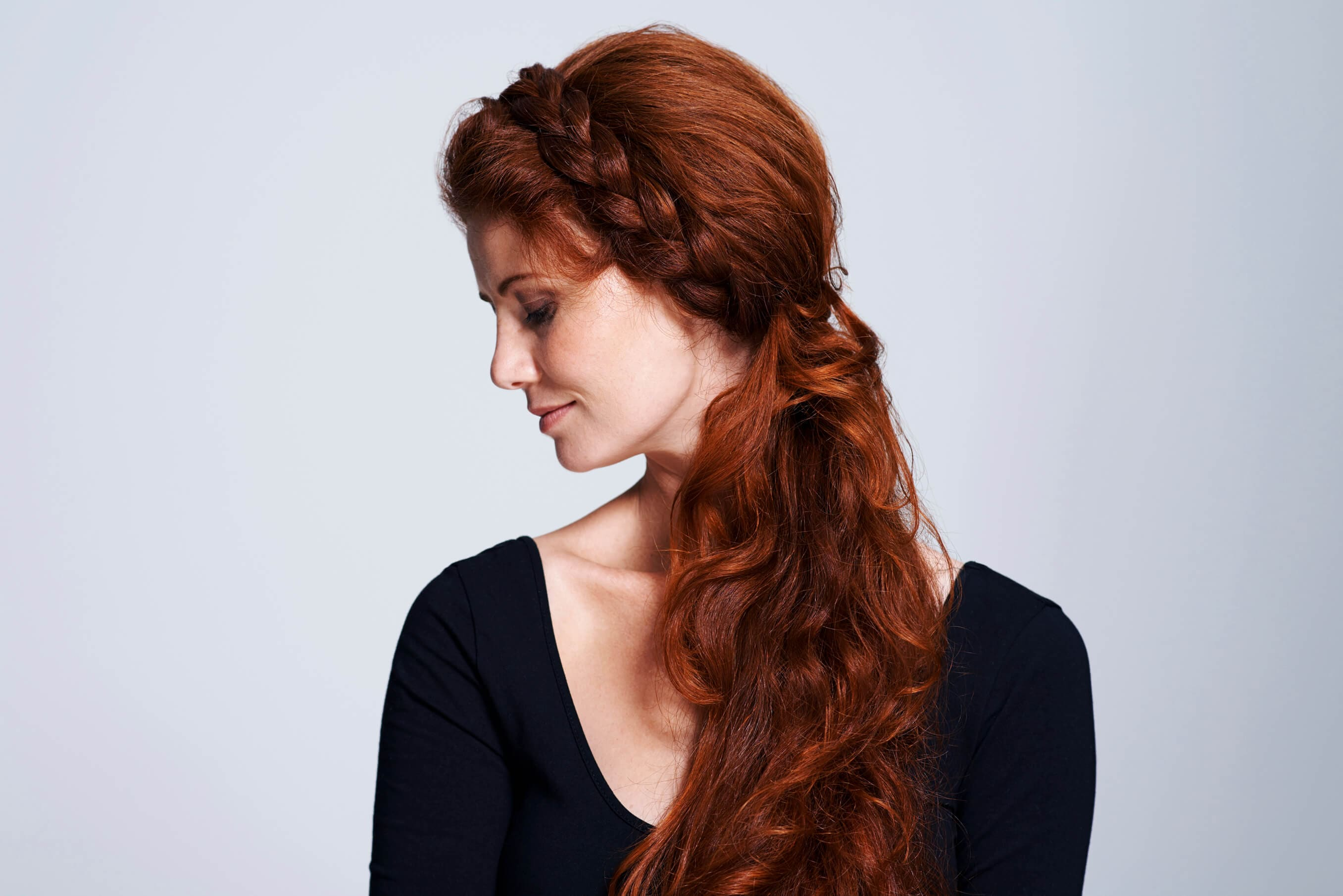 Ginger hair braids