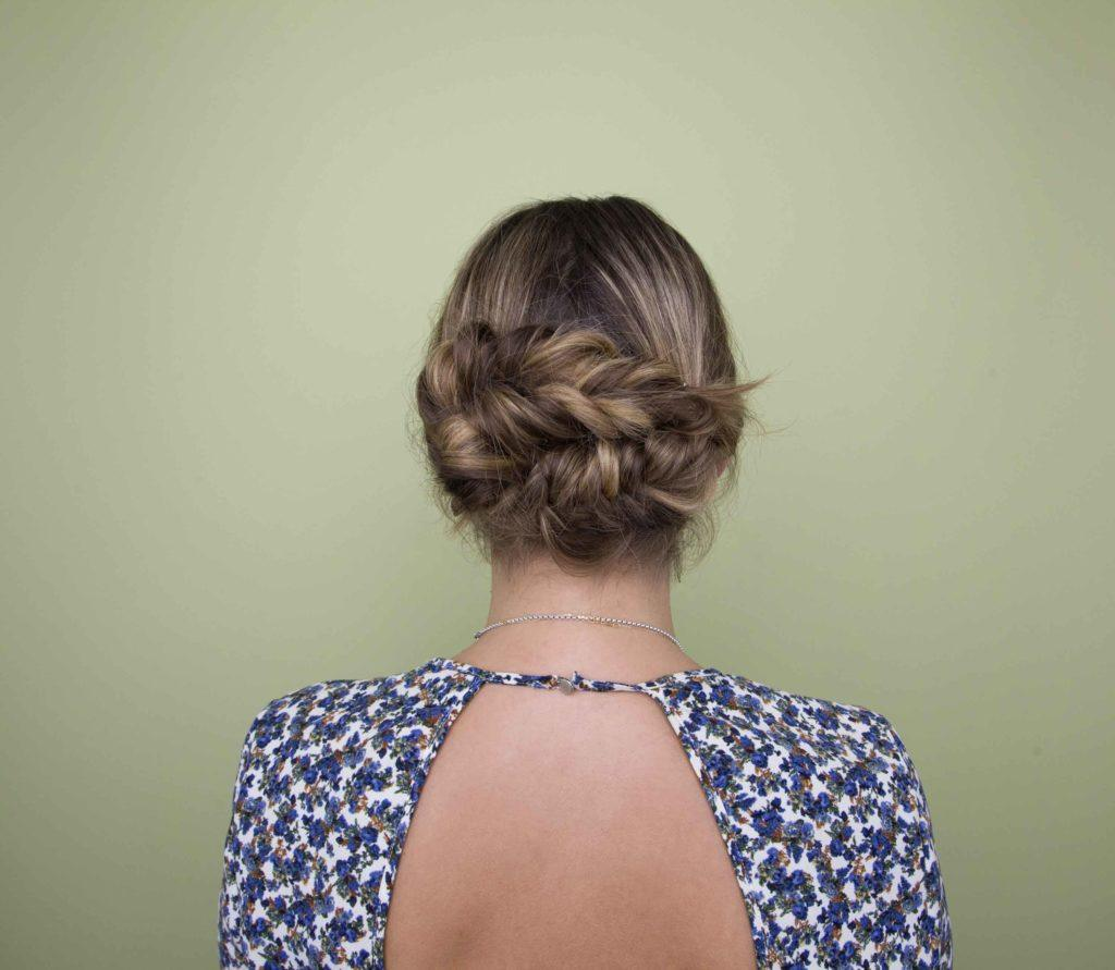 updo hairstyles for short hair braided updo