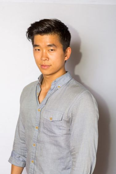 mens pompadour hairstyle gelled asian hair