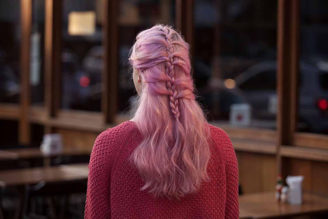 halloween pink hairstyles mermaid