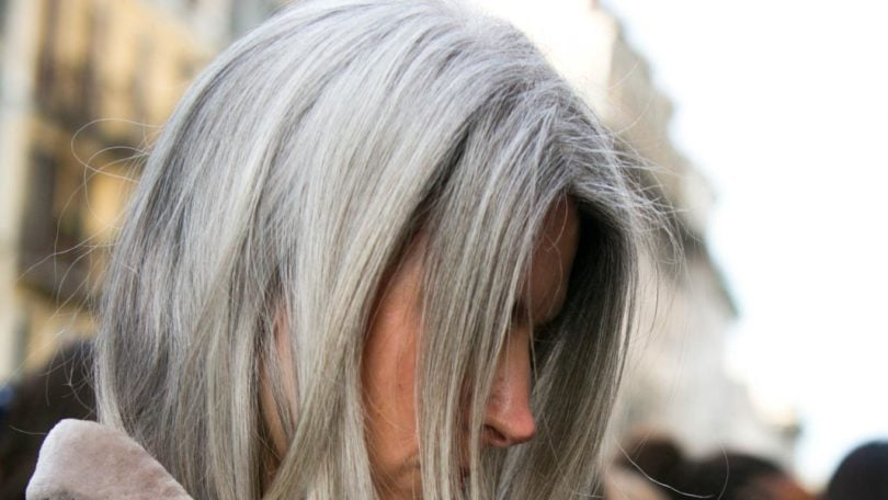 festive hair color ideas silver