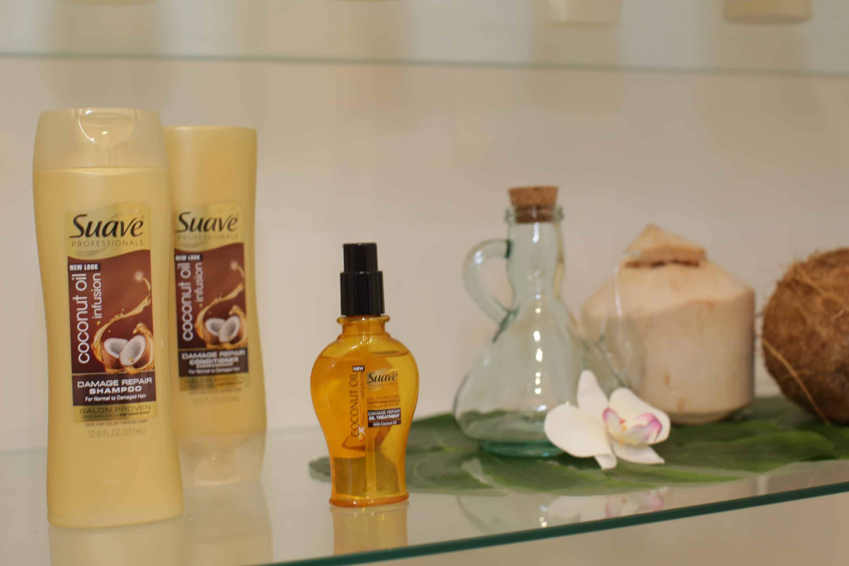 suave coconut oil damaged hair treatment
