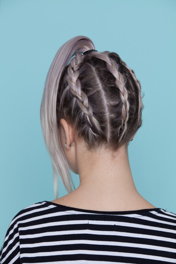 braiding hair upside-down braid underneath braids final look