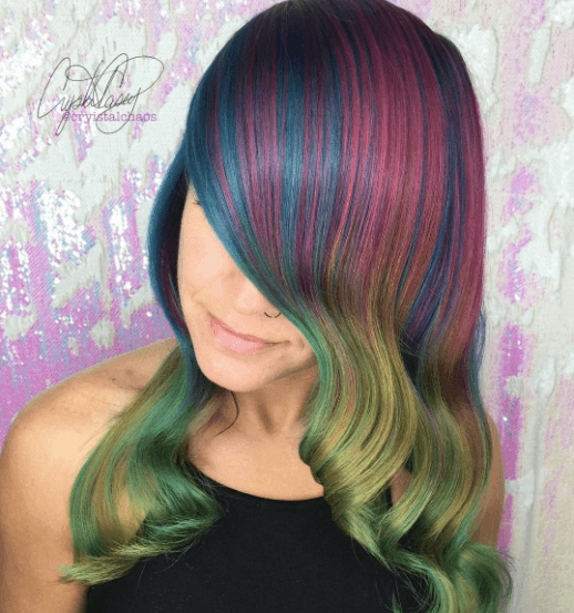 bold hair colors @cryistalchaos on Instgram