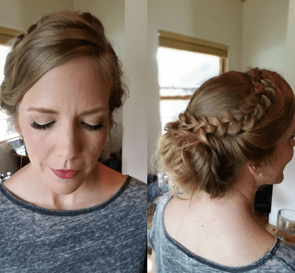 bridal hair updo with braids