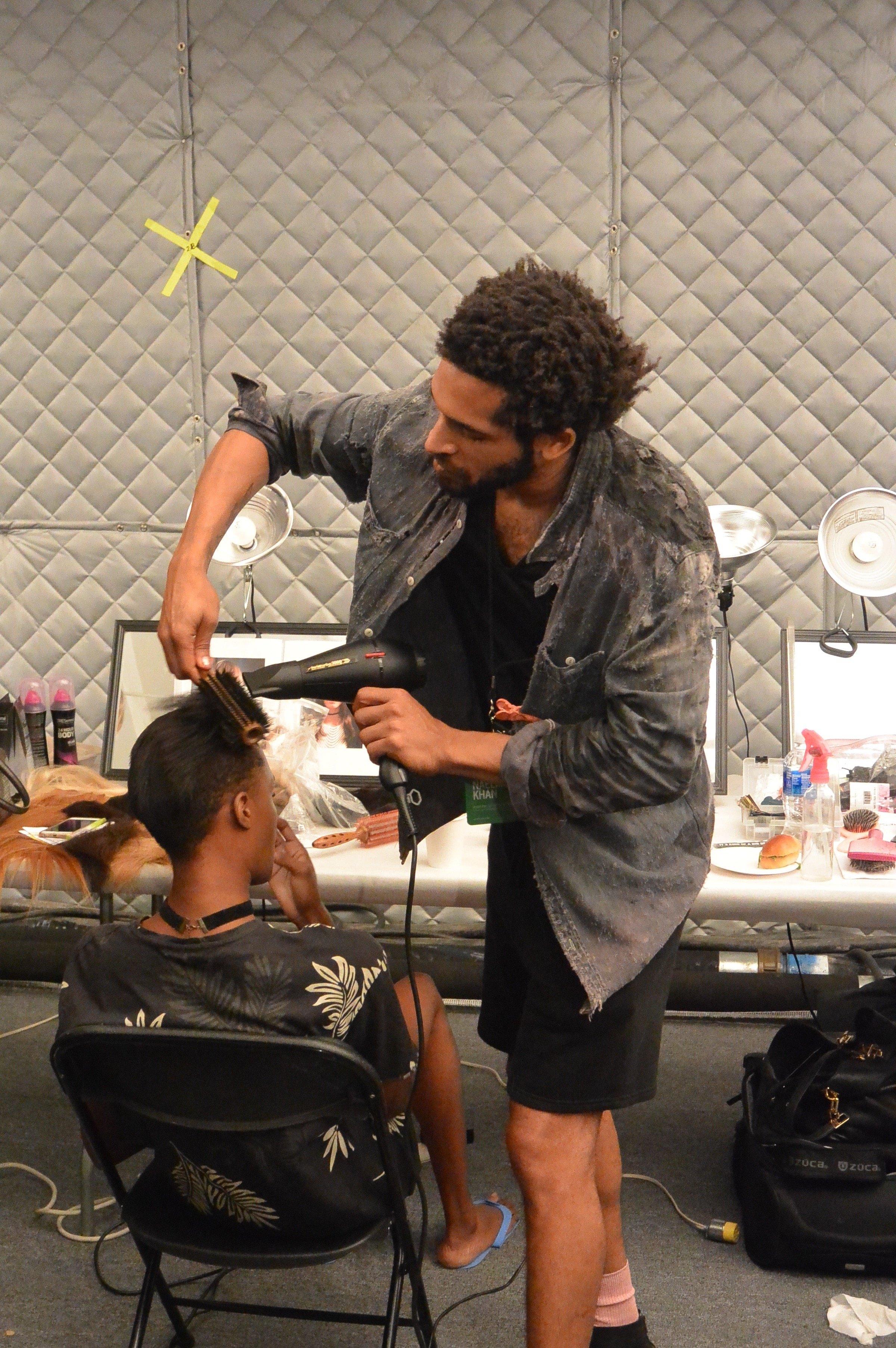 clean hair look at NYFW