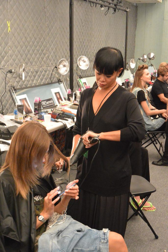 Jeanine Syfu Creates Clean Hair for NYFW