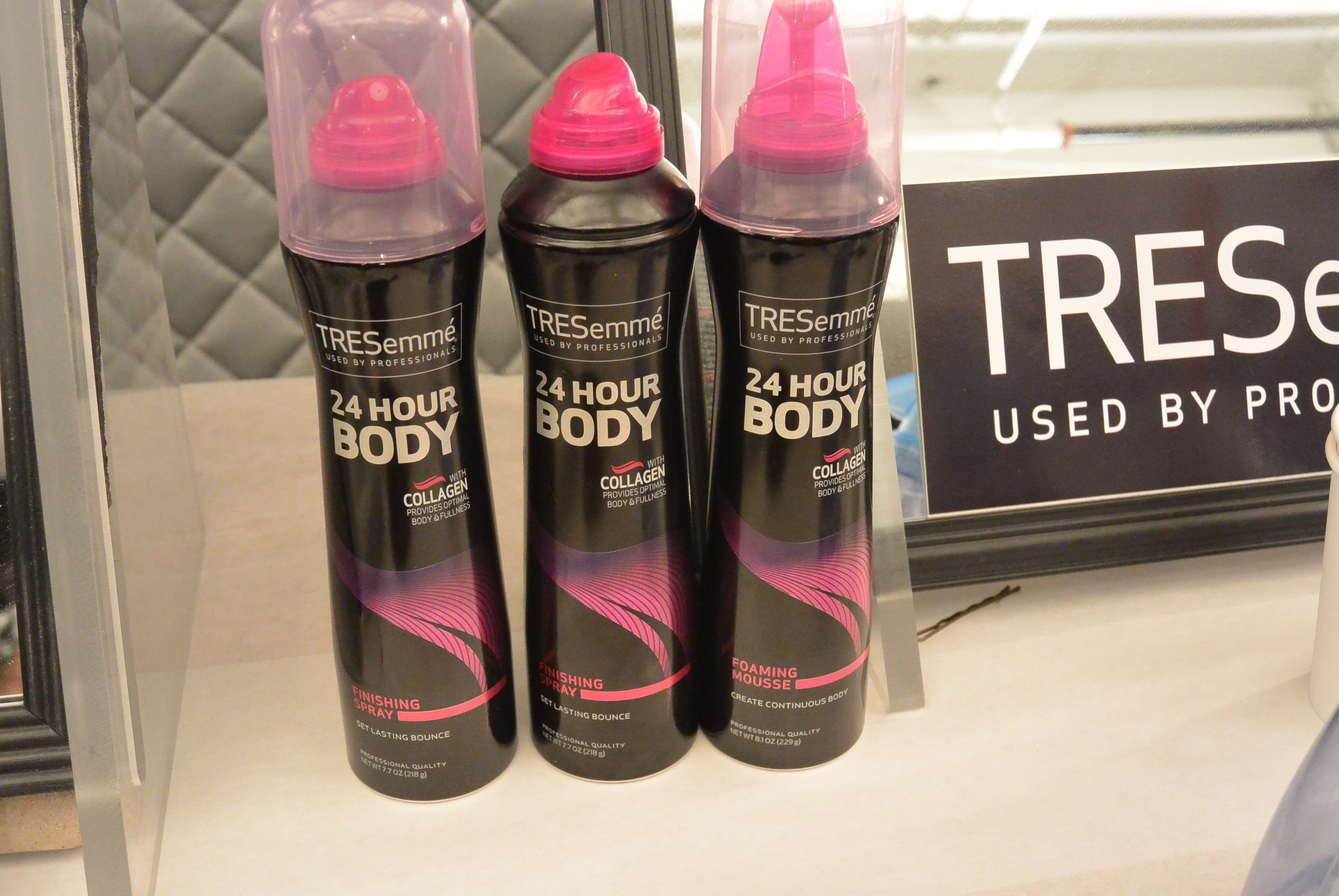 get the clean hair look with help from some TRESemmé products