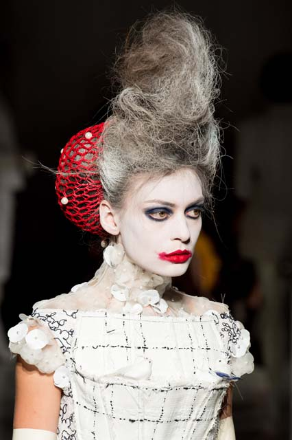 High fashion meets Halloween in this ghoulish updo. Photo credit ...