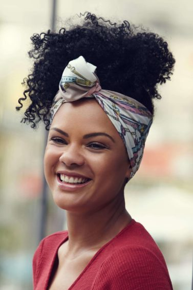 how to wear a headscarf natural hair inspo