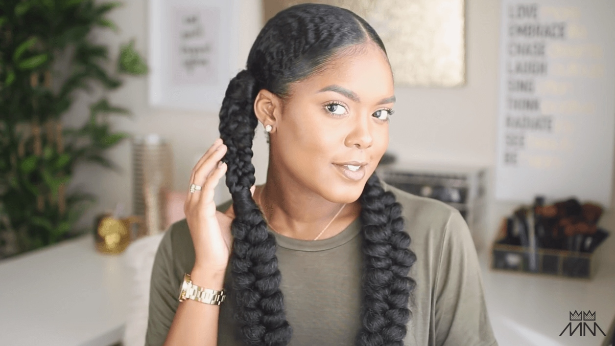 Tutorial Mini Marley Nyfw Fishtail Inspired Braided Hairstyle